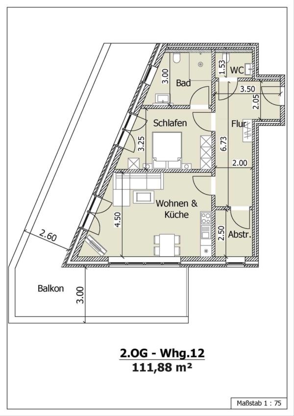 Wohnung 12, 2. Obergeschoss