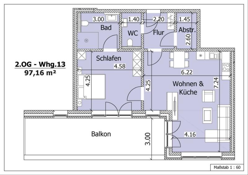 Wohnung 16, 2. Obergeschoss