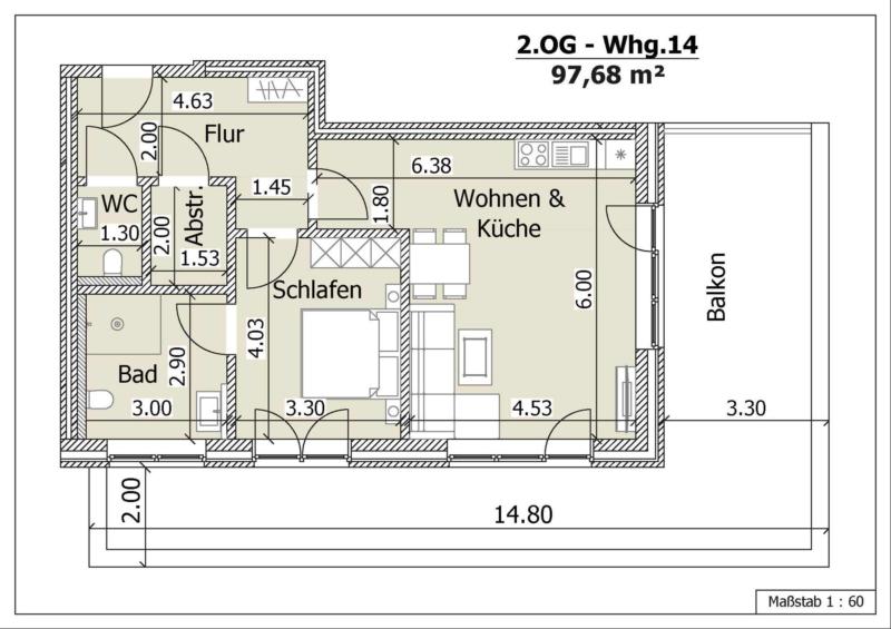 Wohnung 14, 2. Obergeschoss