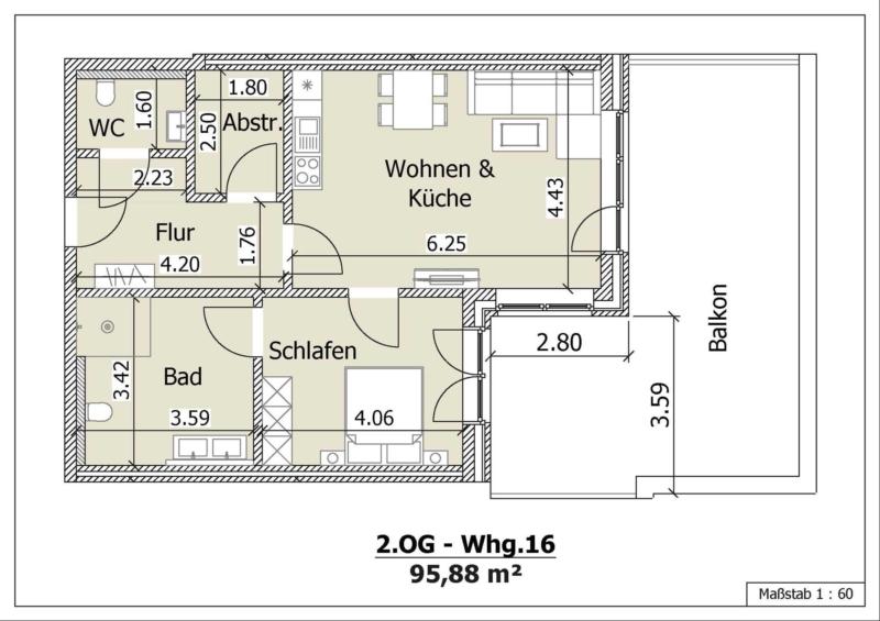 Wohnung 15, 2. Obergeschoss