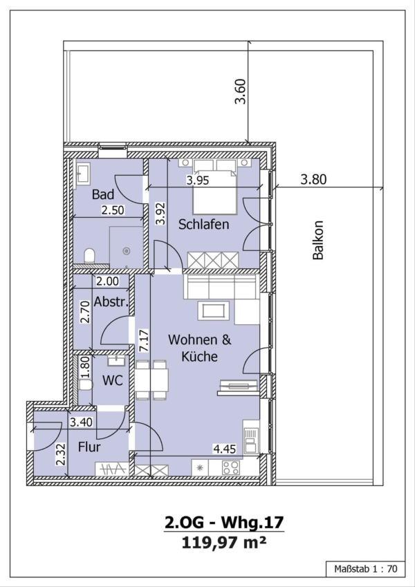 Wohnung 17, 2. Obergeschoss