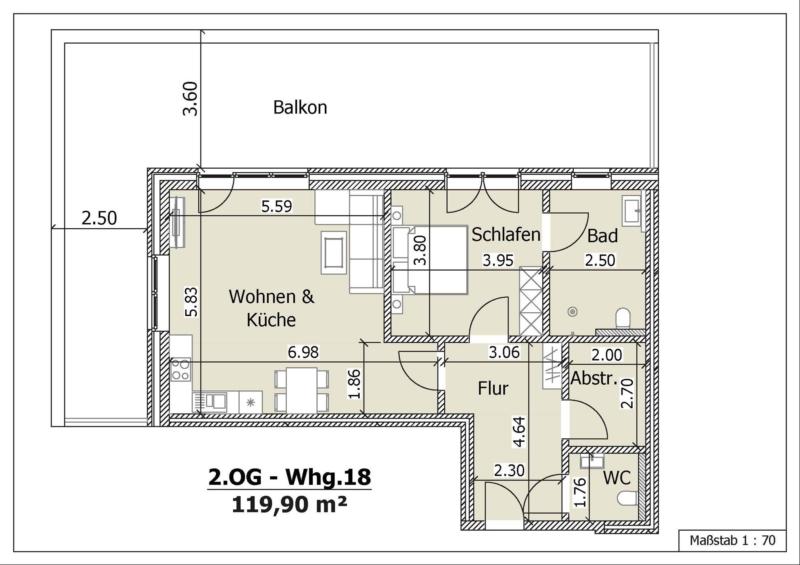 Wohnung 18, 2. Obergeschoss