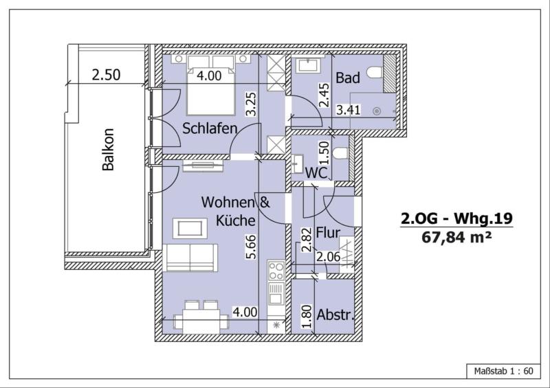 Wohnung 19, 2. Obergeschoss
