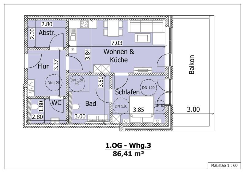 Wohnung 6, 1. Obergeschoss