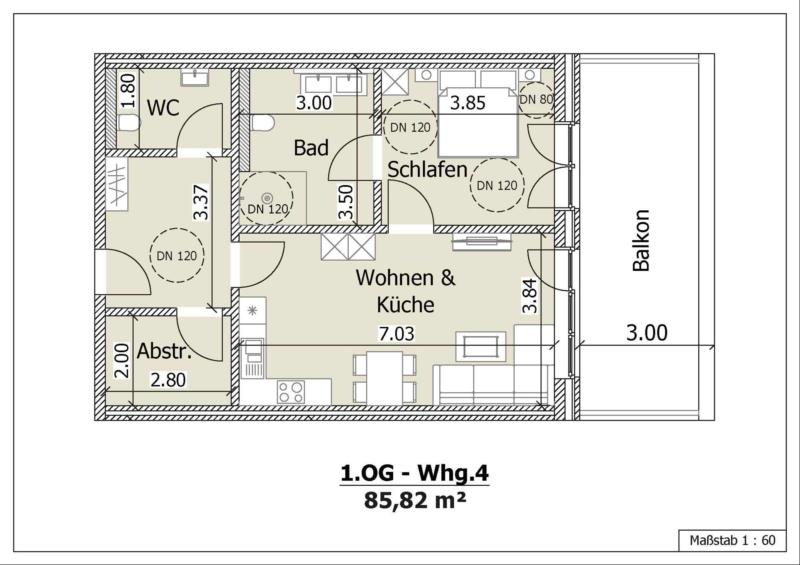 Wohnung 4, 1. Obergeschoss