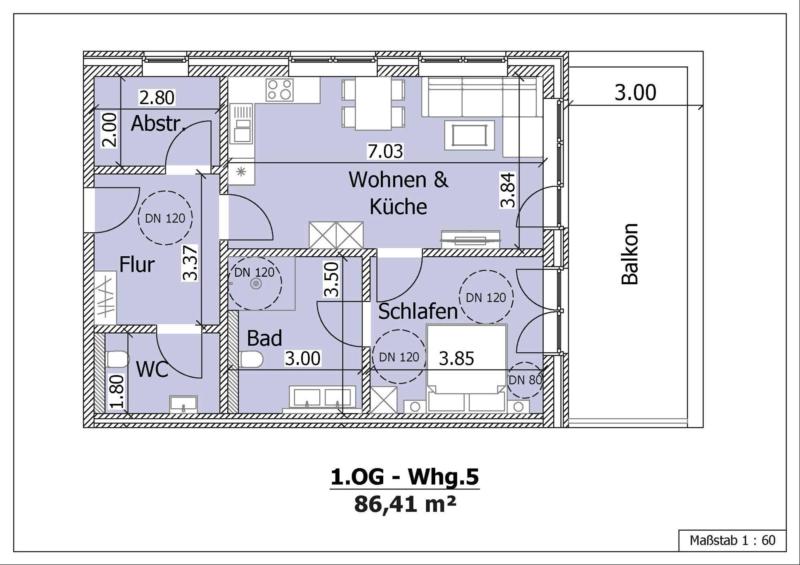 Wohnung 7, 1. Obergeschoss