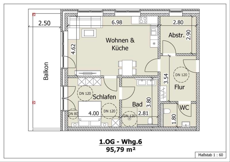Wohnung 10, 1. Obergeschoss