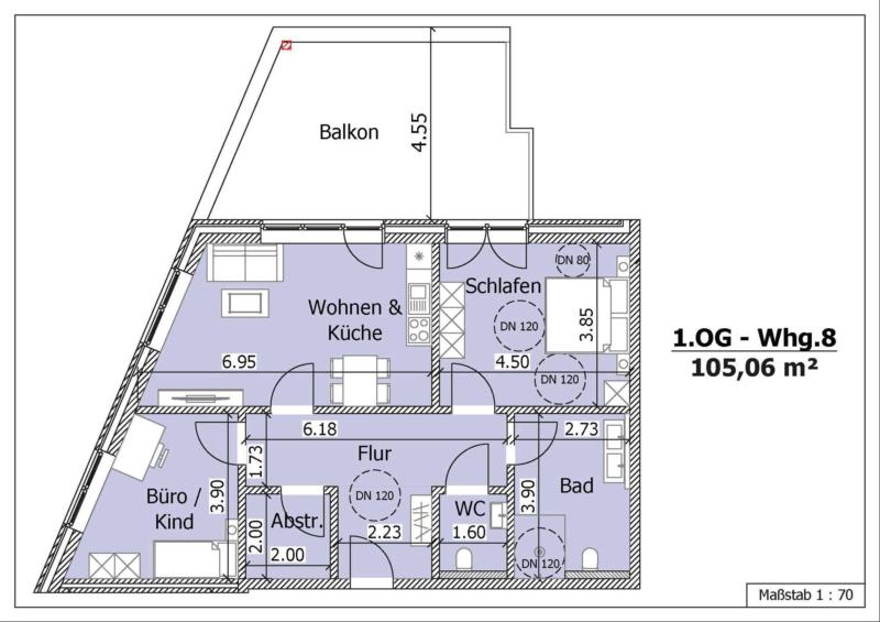 Wohnung 8, 1. Obergeschoss